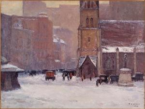 Theodore Clement Steele - Christ Church Cathedral in the Snow