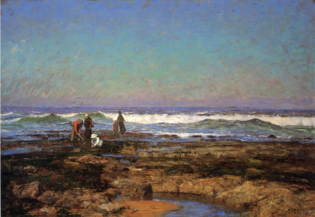 Clam Diggers, 1902 by Theodore Clement Steele (1847-1926, United States) | Paintings Reproductions Theodore Clement Steele | WahooArt.com