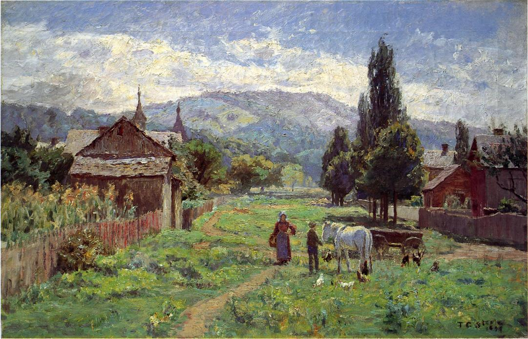 Cumberland Mountains, 1899 by Theodore Clement Steele (1847-1926, United States) | Painting Copy | WahooArt.com