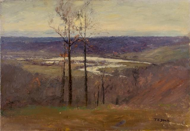 Early Snow (Flood, Salt Creek Valley) by Theodore Clement Steele (1847-1926, United States) | Famous Paintings Reproductions | WahooArt.com