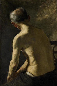 Theodore Clement Steele - Figure Study. Man-s Back