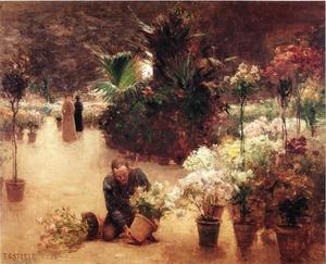 Theodore Clement Steele - Flower Mart