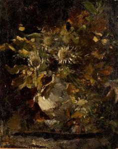 Order Museum Quality Reproductions : Flowers 1 by Theodore Clement Steele (1847-1926, United States) | WahooArt.com