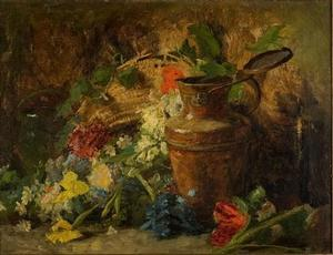 Theodore Clement Steele - Flowers and Vase