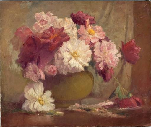 Flowers by Theodore Clement Steele (1847-1926, United States) | Museum Art Reproductions Theodore Clement Steele | WahooArt.com