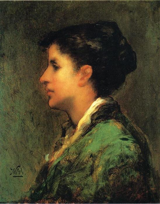 Frau Gernhardt by Theodore Clement Steele (1847-1926, United States) | Art Reproductions Theodore Clement Steele | WahooArt.com