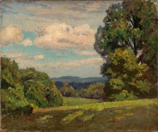 From the Knoll by Theodore Clement Steele (1847-1926, United States) | Art Reproduction | WahooArt.com
