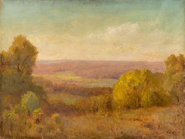 Golden Afternoon by Theodore Clement Steele (1847-1926, United States) | Museum Art Reproductions Theodore Clement Steele | WahooArt.com