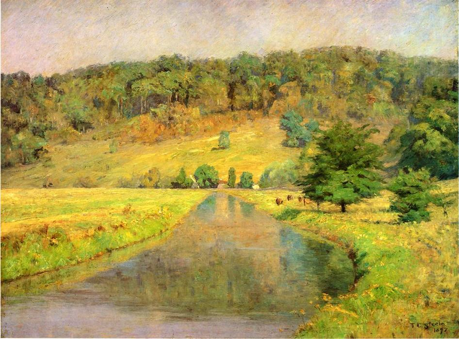 Gordon Hill, 1897 by Theodore Clement Steele (1847-1926, United States) | Paintings Reproductions Theodore Clement Steele | WahooArt.com
