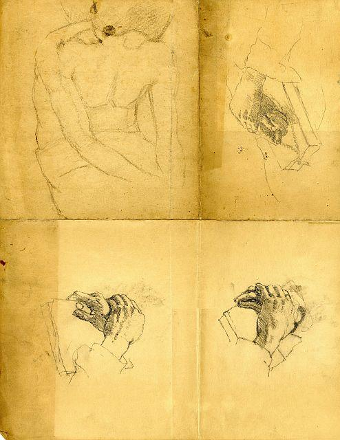 Hand studies by Theodore Clement Steele (1847-1926, United States) | Oil Painting | WahooArt.com