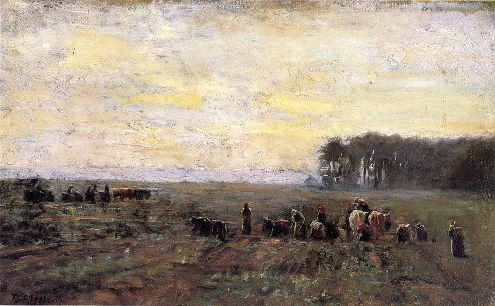Haying Scene, 1884 by Theodore Clement Steele (1847-1926, United States) | Art Reproductions Theodore Clement Steele | WahooArt.com