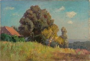Buy Museum Art Reproductions | Hill Cabin (The Cottage) by Theodore Clement Steele (1847-1926, United States) | WahooArt.com