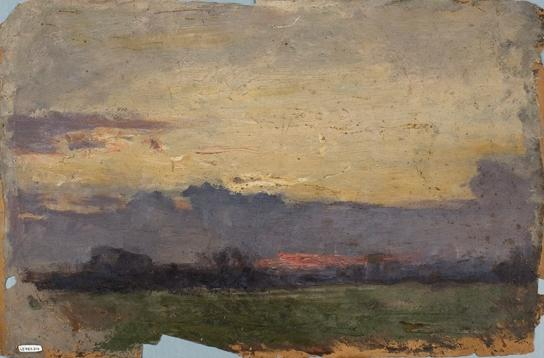 Horizon Landscape Study by Theodore Clement Steele (1847-1926, United States) | Art Reproductions Theodore Clement Steele | WahooArt.com