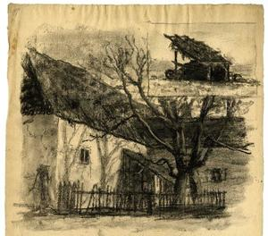 Theodore Clement Steele - House and tree