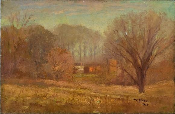 House in the Evening Mist by Theodore Clement Steele (1847-1926, United States) | Art Reproductions Theodore Clement Steele | WahooArt.com