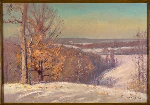 In Winter, The North Slope (Winter Hills) by Theodore Clement Steele (1847-1926, United States) | Museum Quality Reproductions | WahooArt.com