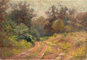 Theodore Clement Steele - Into the Woods (Mid Summer, The Road)