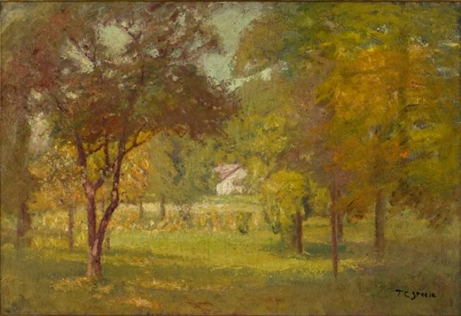 Order Art Reproductions | Landscape and White Cottage by Theodore Clement Steele (1847-1926, United States) | WahooArt.com
