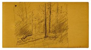 Theodore Clement Steele - Landscape sketch 1