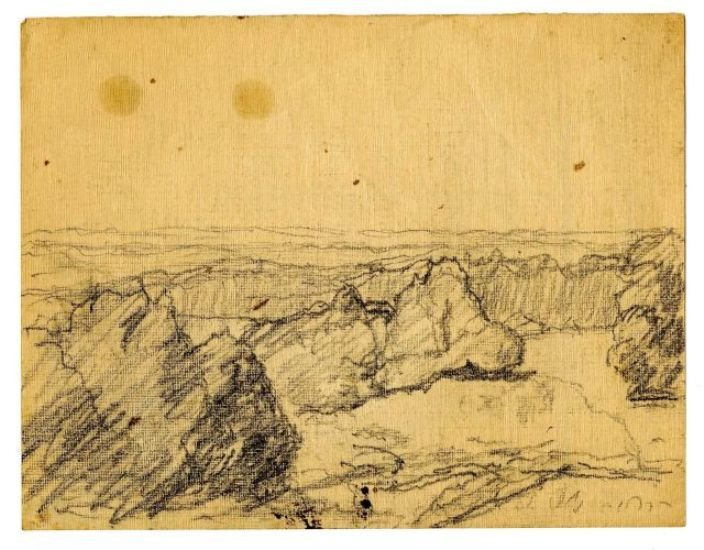 Landscape sketch 2 by Theodore Clement Steele (1847-1926, United States) | Museum Quality Reproductions | WahooArt.com