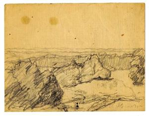 Theodore Clement Steele - Landscape sketch 2