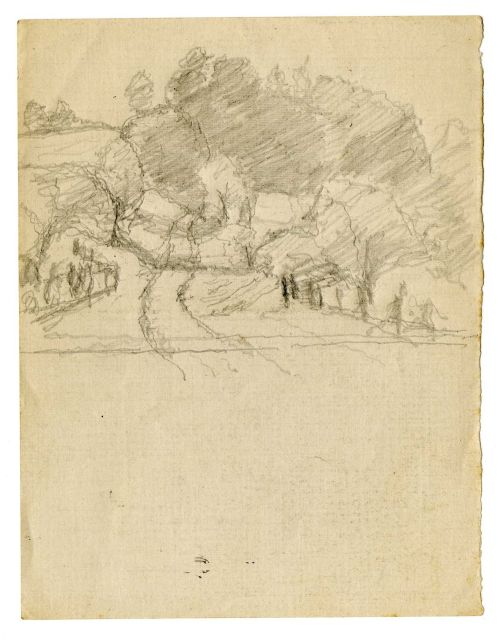 Landscape sketch 7 by Theodore Clement Steele (1847-1926, United States) | Painting Copy | WahooArt.com
