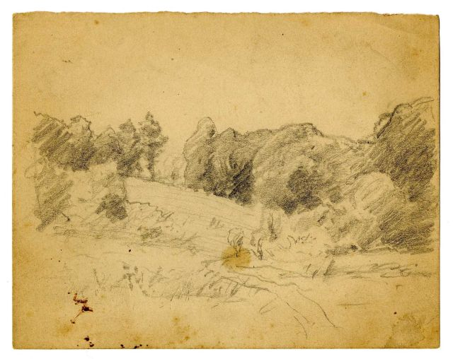 Landscape sketch 8 by Theodore Clement Steele (1847-1926, United States) | Oil Painting | WahooArt.com