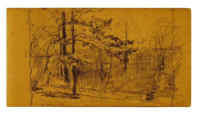 Landscape sketch 9 by Theodore Clement Steele (1847-1926, United States) | Museum Quality Reproductions | WahooArt.com