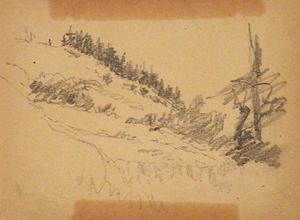 Theodore Clement Steele - Landscape Sketch