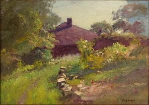 Theodore Clement Steele - Lane Among the Trees to the House