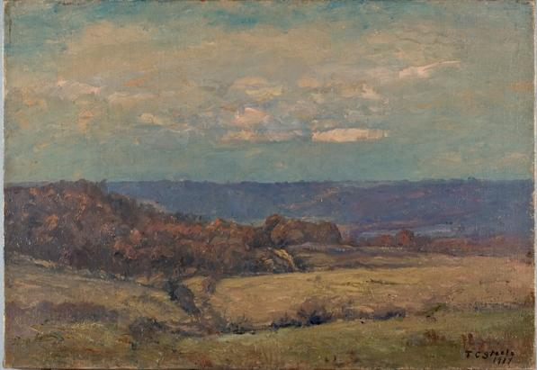 Late Autumn in the Valley by Theodore Clement Steele (1847-1926, United States) | Painting Copy | WahooArt.com
