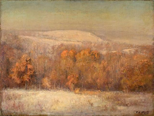 Late November Morning by Theodore Clement Steele (1847-1926, United States) | Reproductions Theodore Clement Steele | WahooArt.com