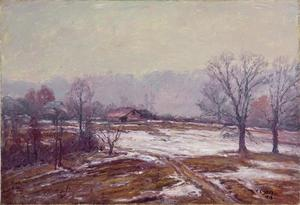 Theodore Clement Steele - Melting Snow (A Snowy Day)