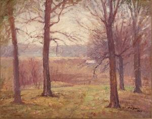 Order Reproductions | Misty Spring Morning by Theodore Clement Steele (1847-1926, United States) | WahooArt.com