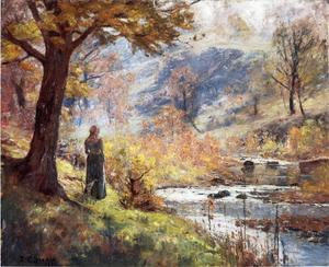 Theodore Clement Steele - Morning by the Stream