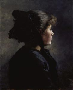 Order Painting Copy : Munich Girl by Theodore Clement Steele (1847-1926, United States) | WahooArt.com