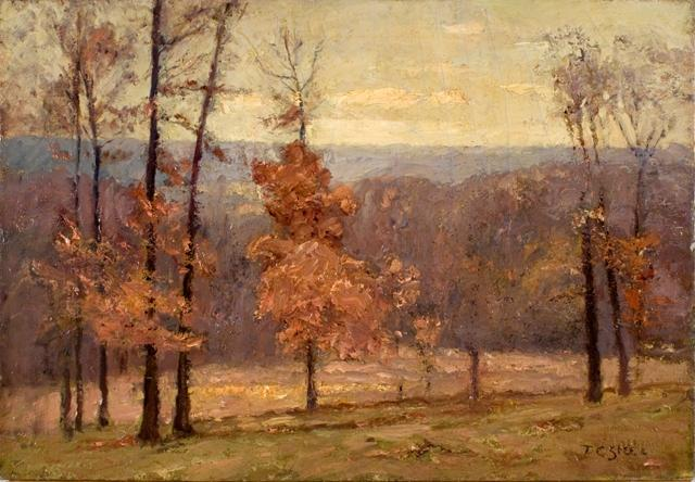 November Days in the Hills by Theodore Clement Steele (1847-1926, United States) | Museum Quality Reproductions | WahooArt.com