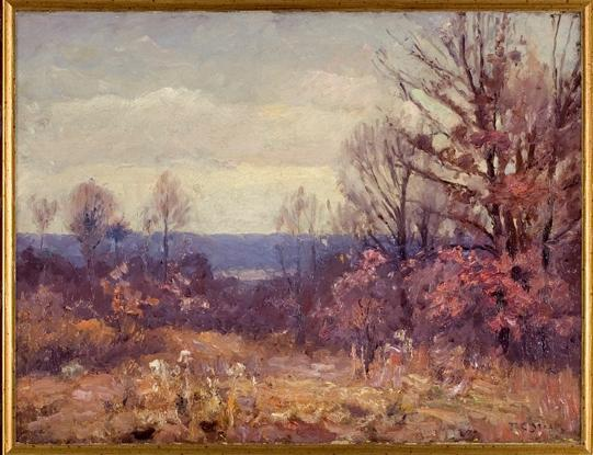 November Skies by Theodore Clement Steele (1847-1926, United States) | Oil Painting | WahooArt.com