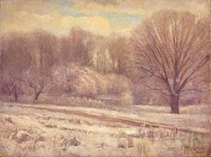 Theodore Clement Steele - On the Jordan-In Snow and Mist