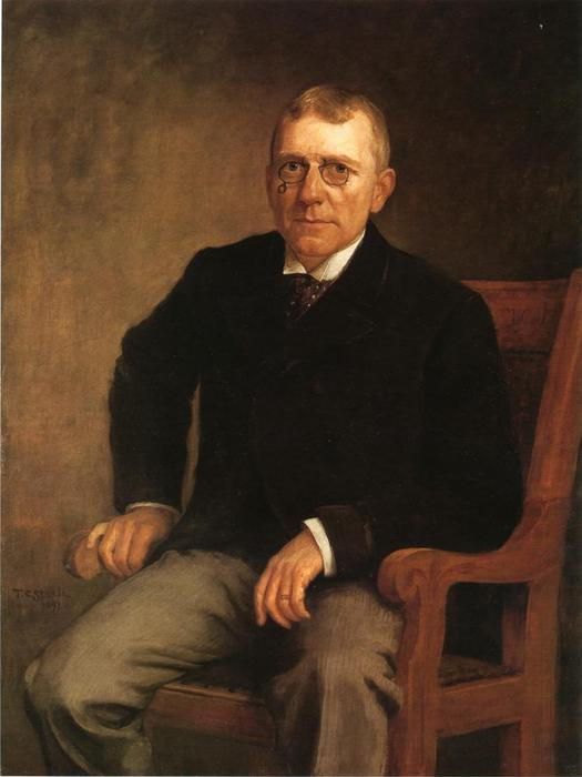 Order Paintings Reproductions | Portrait of James Whitcomb Riley, 1891 by Theodore Clement Steele (1847-1926, United States) | WahooArt.com