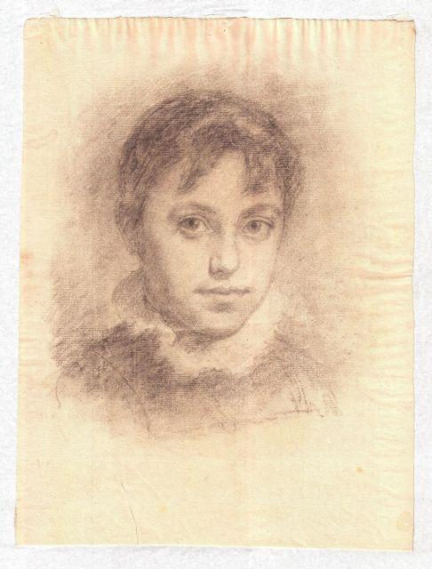 Portrait of young girl by Theodore Clement Steele (1847-1926, United States) | Museum Quality Reproductions | WahooArt.com