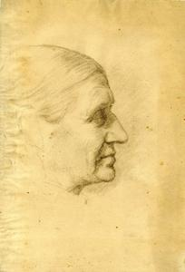 Theodore Clement Steele - Profile of an elderly woman