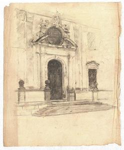 Theodore Clement Steele - Sketch of a building exterior