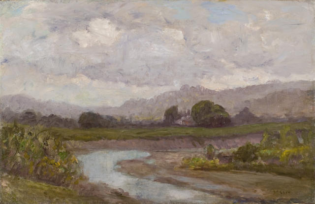 Order Reproductions | Stream by the Pasture by Theodore Clement Steele (1847-1926, United States) | WahooArt.com