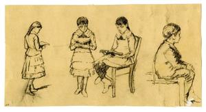 Theodore Clement Steele - Studies of children