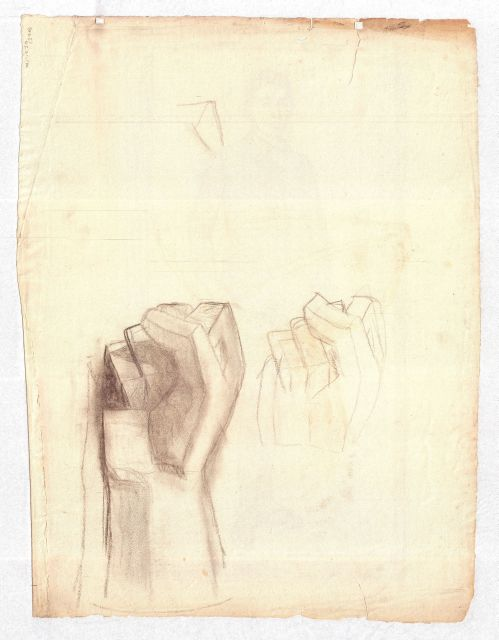 Studies of clenched fists by Theodore Clement Steele (1847-1926, United States) | Museum Art Reproductions Theodore Clement Steele | WahooArt.com