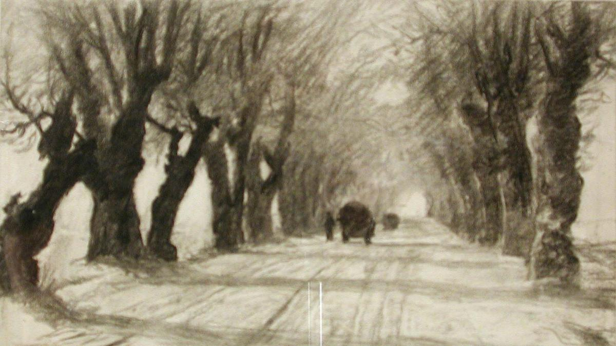 Order Art Reproductions | Study for Road to Schleissheim by Theodore Clement Steele (1847-1926, United States) | WahooArt.com