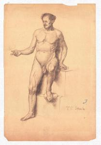 Theodore Clement Steele - Study of a Male Nude 3