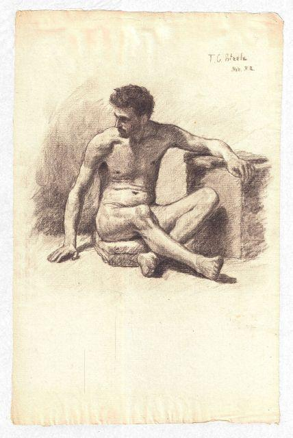 Study of a Male Nude 4 by Theodore Clement Steele (1847-1926, United States) | Art Reproduction | WahooArt.com