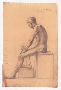 Theodore Clement Steele - Study of a Male Nude 5